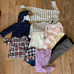 Excellent lot girls clothing Zara Burts Bees sz 3